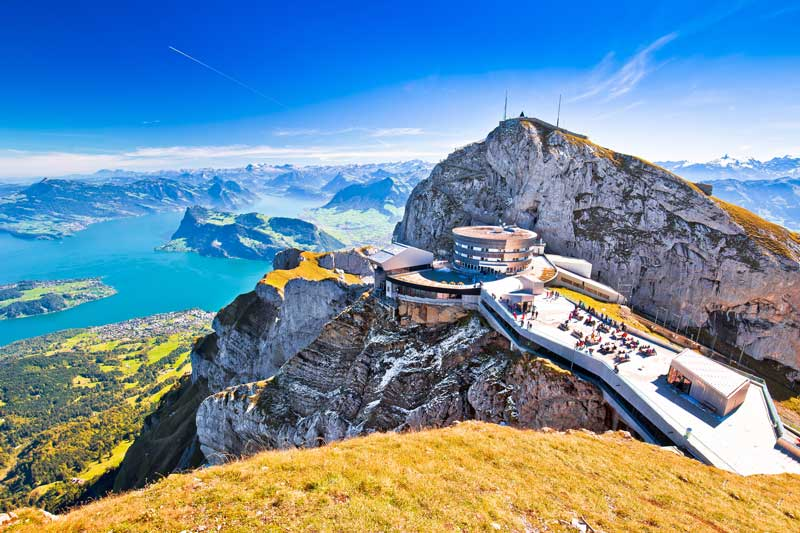 lucerne switzerland summer, Mount pilatus cable car
