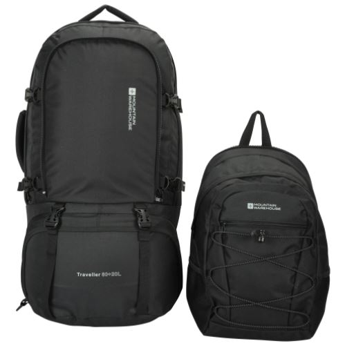 hiking backpack with detachable daypack