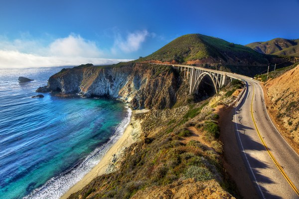 best road drives in California